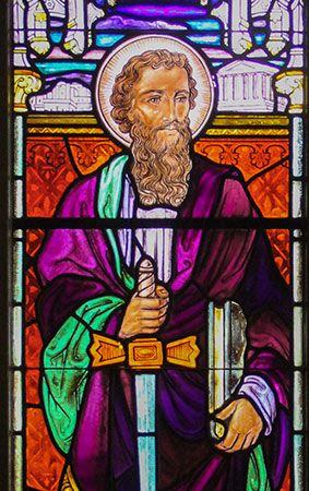 Stained Glass Depiction of St. Paul